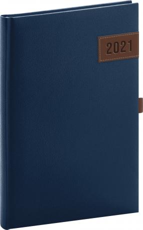 Týdenní diář Tarbes 2021, modrý, 15 × 21 cm