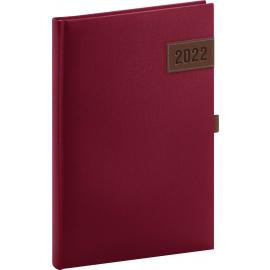 Týdenní diář Tarbes 2022, červený, 15 × 21 cm