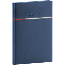 Weekly diary Tomy blue-red 2019, 15 x 21 cm