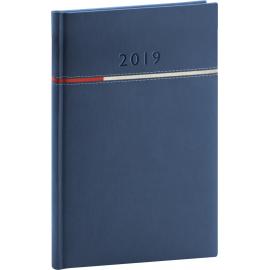 Týdenní diář Tomy 2019, modrý, 15 x 21 cm
