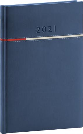 Týdenní diář Tomy 2021, modročervený, 15 × 21 cm