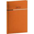 Týdenní diář Tomy 2021, oranžovočerný, 15 × 21 cm