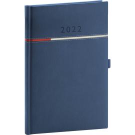 Týdenní diář Tomy 2022, modročervený, 15 × 21 cm