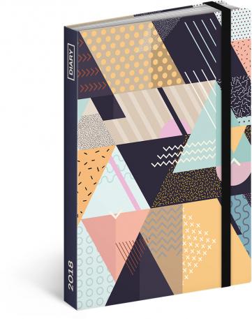 Týdenní diář Trojúhelníky 2018, 10,5 x 15,8 cm