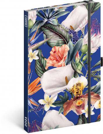 Týdenní diář Tropical 2021, 13 × 21 cm