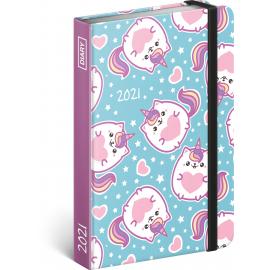 Weekly diary Unicorn Cat 2021, 11 × 16 cm