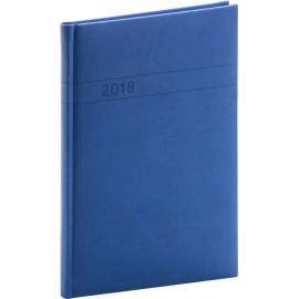 Týdenní diář Vivella 2018, modrý, 15 x 21 cm, A5