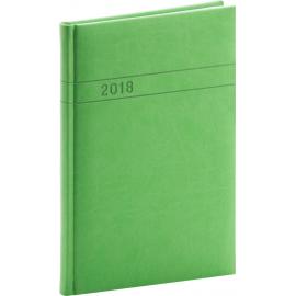 Týdenní diář Vivella 2018, zelený, 15 x 21 cm, A5