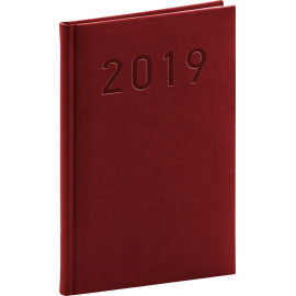 Weekly diary Vivella Classic burgundy 2019, 15 x 21 cm