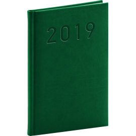 Weekly diary Vivella Classic bottle green 2019, 15 x 21 cm