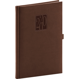 Weekly diary Vivella Classic brown 2020, 15 × 21 cm