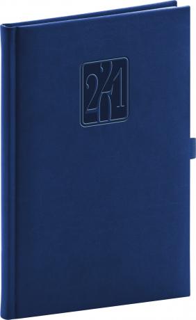 Týdenní diář Vivella Classic 2021, modrý, 15 × 21 cm