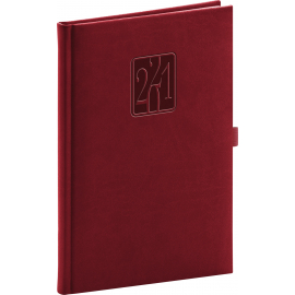 Weekly diary Vivella Classic burgundy 2021, 15 × 21 cm