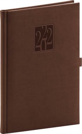 Týdenní diář Vivella Classic 2022, hnědý, 15 × 21 cm
