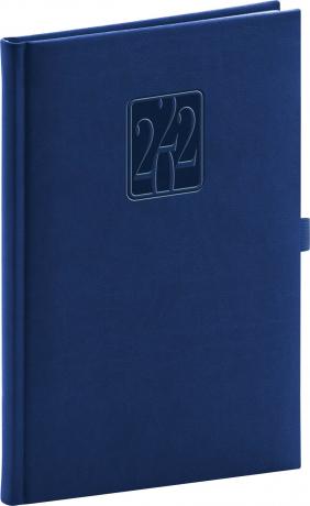Týdenní diář Vivella Classic 2022, modrý, 15 × 21 cm