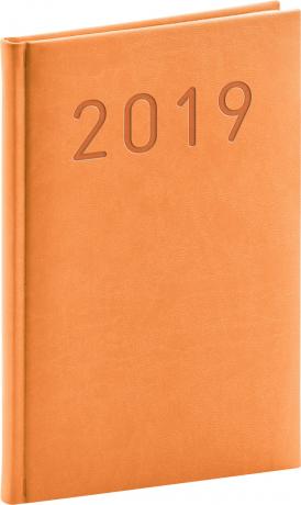 Týdenní diář Vivella Fun 2019, oranžový, 15 x 21 cm