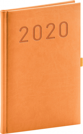 Weekly diary Vivella Fun orange 2020, 15 × 21 cm