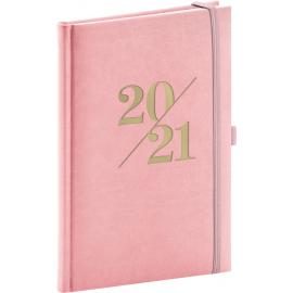 Týdenní diář Vivella Fun 2021, růžový, 15 × 21 cm