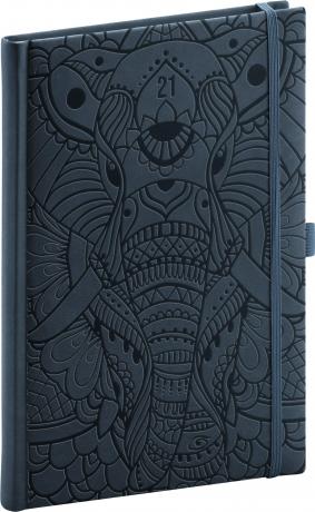 Týdenní diář Vivella Fun 2021, slon, 15 × 21 cm