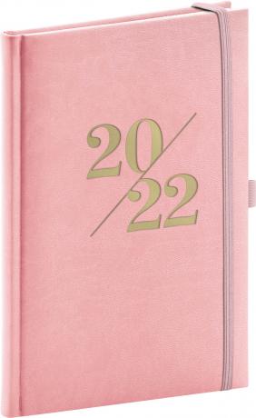 Týdenní diář Vivella Fun 2022, růžový, 15 × 21 cm
