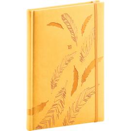 Týdenní diář Vivella speciál 2018, žlutý, 15 x 21 cm, A5