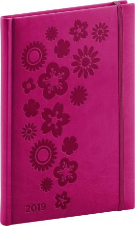 Týdenní diář Vivella Speciál 2019, růžový, 15 x 21 cm