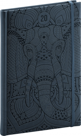 Týdenní diář Vivella Speciál 2020, slon 15 × 21 cm