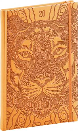 Týdenní diář Vivella Speciál 2020, tygr 15 × 21 cm
