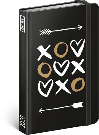 Týdenní diář XOXO 2020, 11 × 16 cm