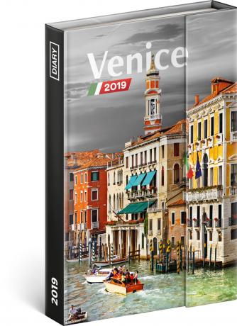 Týdenní magnetický diář Benátky 2019, 10,5 x 15,8 cm