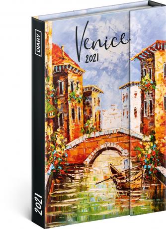 Týdenní magnetický diář Benátky 2021, 11 × 16 cm