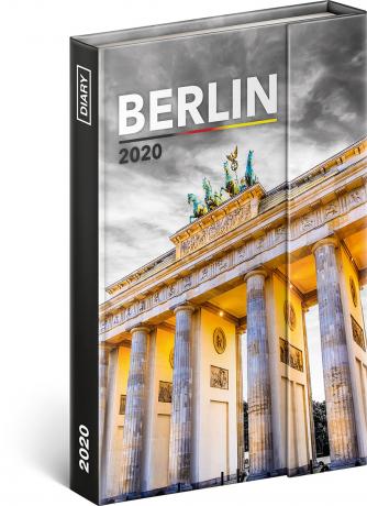 Týdenní magnetický diář Berlín 2020, 11 × 16 cm