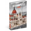 Týdenní magnetický diář Budapešť 2018, 10,5 x 15,8 cm