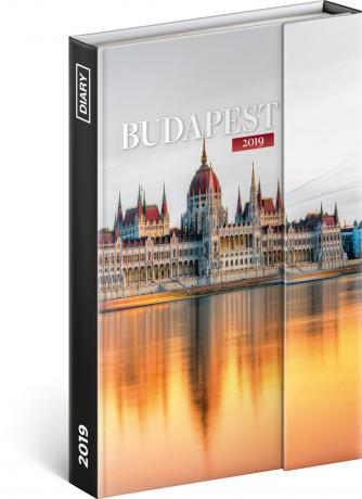 Týdenní magnetický diář Budapešť 2019, 10,5 x 15,8 cm