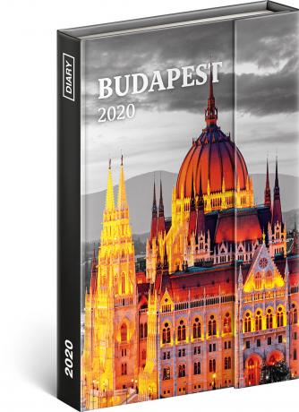 Týdenní magnetický diář Budapešť 2020, 11 × 16 cm