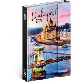 Týdenní magnetický diář Budapešť 2021, 11 × 16 cm
