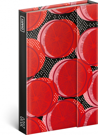 Magnetic weekly diary Red 2020, 11 × 16 cm
