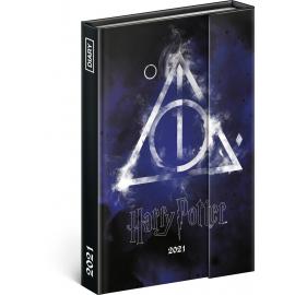 Týdenní magnetický diář Harry Potter – Deathly Hallows 2021, 11 × 16 cm