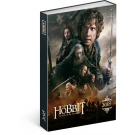 Týdenní magnetický diář Hobbit 2018, 10,5 x 15,8 cm
