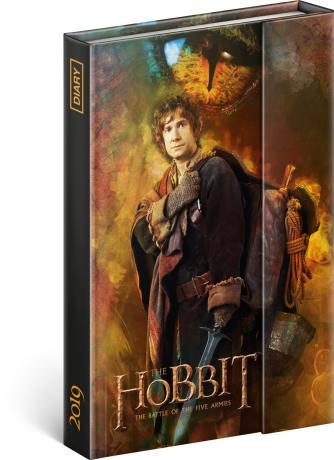 Týdenní magnetický diář Hobbit 2019, 10,5 x 15,8 cm