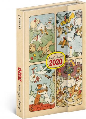 Týdenní magnetický diář Josef Lada 2020, 11 × 16 cm