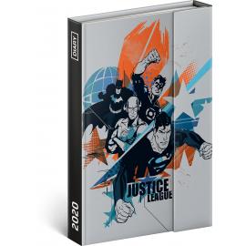 Týdenní magnetický diář Justice League 2020, 11 × 16 cm