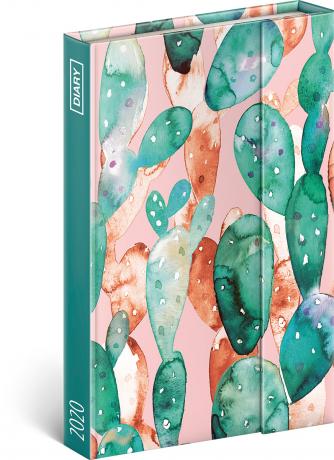 Týdenní magnetický diář Kaktusy 2020, 11 × 16 cm