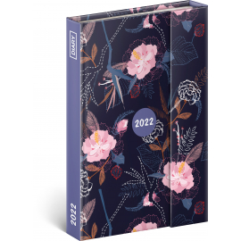 Magnetic weekly diary Flowers 2022, 11 × 16 cm