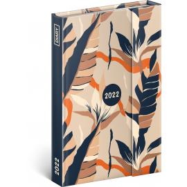 Magnetic weekly diary Leaves 2022, 11 × 16 cm