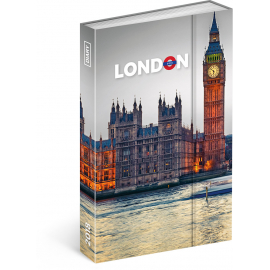 Týdenní magnetický diář Londýn 2018, 10,5 x 15,8 cm