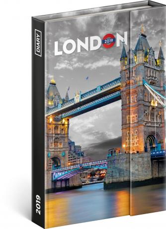 Týdenní magnetický diář Londýn 2019, 10,5 x 15,8 cm