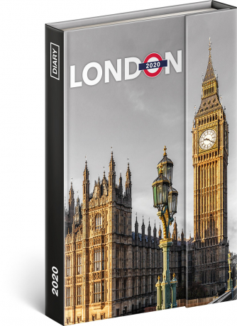 Magnetic weekly diary London 2020, 11 × 16 cm