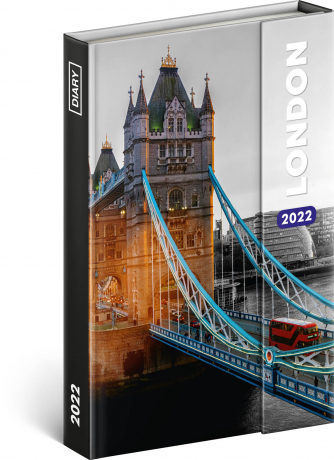 Magnetic weekly diary London 2022, 11 × 16 cm