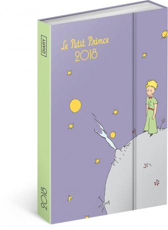 Týdenní magnetický diář Malý princ (Le Petit Prince) – Planet 2018, 10,5 x 15,8 cm
